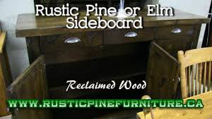 Mennonite Furniture Kitchener Rustic Elm Sideboard Mennonite Made Rustic Elm Sideboard