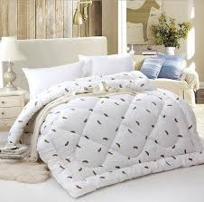 winter/summer cotton shell goose down comforter quilted blanket ... & winter/summer cotton shell goose down comforter quilted blanket  twin/queen/king feather comforter embroidered-in Comforters & Duvets from  Home & Garden on ... Adamdwight.com