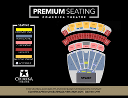 Comerica Seating Chart For Concerts The Most Elegant As Well As Attractive Comerica Theater