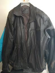 brandini le collezioni men dark brown leather fashion coat size large
