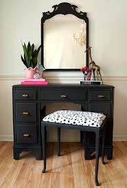 black table with mirror no blackup mirror glamorous bathroom vanity table full size of