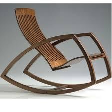 modern wood rocking chair