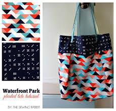 Tote Bag Sewing Pattern Custom Tote Bag And Purse Sewing Tutorials SewCanShe Free Sewing