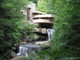 Fallingwater in Western Pennsylvania is an example of Wright's integration  of nature into architectural design.