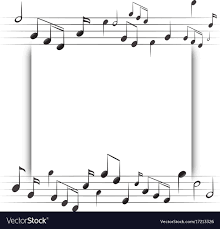 Paper Template With Music Notes In Background Vector Image