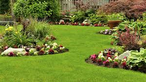 ... Landscape, Stunning Green Square Unique Grass Landscaping Pics  Decorative Many Flowers Ideas: appealing landscaping ...