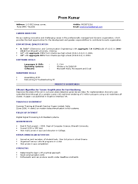 Best Resume For Freshers Cse Pictures Inspiration Entry Level