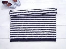 black and white striped rug cotton outdoor 6x9