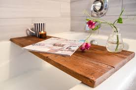 diy wooden bath caddy this would make the perfect gift hint hint