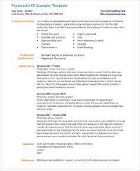 Pharmacist Resume Template Simple 28 Pharmacist Curriculum Vitae Templates PDF DOC Free Premium