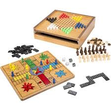 Wooden Ludo Board Game Hey Play 10000in100 Combo Game Chess Ludo Chinese Checkers and 56