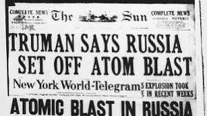 Image result for the USSR tested their first hydrogen bomb.