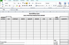 Daily Production Report Format In Excel Free Download