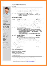 Sample Cv Cv Job Application Example Proper Resume Job Format Examples Data