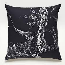aerial black throw pillows