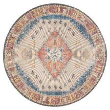 round long medallion jute chenille area rug