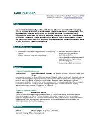 Model Resume For Teachers Example Of A Dance Resume Model Resume