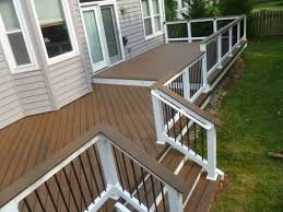 composite deck ideas. Wonderful Composite Spiced Rum Trex Deck  Home And Garden Design Ideas Notice How The Deck  Comes Right Out From Siding For Composite