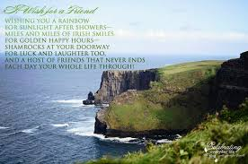 Irish Quotes About Life Inspiring Quote A Wish for A Friend an Irish Blessing 45