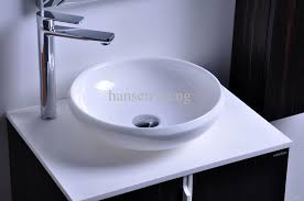 bathroom countertop basins wholesale:  cupc certificate resin round counter top sink colored cloakroom wash basin solid surface stone bathroom vessel sinks rs from hansen peng