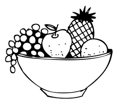 black and white fruit bowl clipart. Svg Transparent Library Fruit Clipart Black And White Kiwi Drawing At Getdrawings Bowl