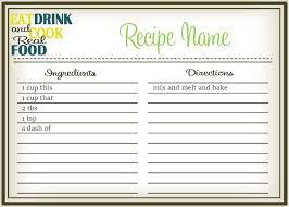 Recipe Cards Print Real Food Recipe Cards Diy Editable The Healthy Honeys