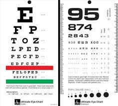 Snellen Chart Dimensions Mccoy Ultimate Rosenbaum Snellen Pocket Eye Chart
