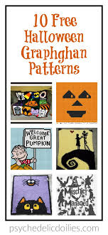 10 Free Halloween Crochet Graphghan Patterns Psychedelic