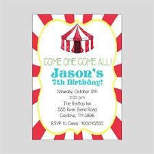 Carnival Birthday Invitations Circus Birthday Invitation