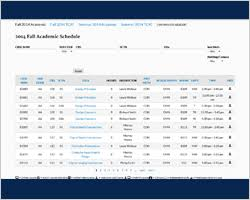 College Class Scheduler Course Schedules Chattanooga State Community College