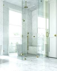glass shower kit seamless glass shower with brass hinges and brass door handle custom shower glass