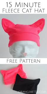 Fleece Cat Hat Pattern