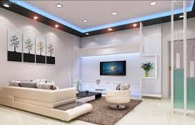 living room low ceiling lights round white wooden laminate coffee table white leather sectional sofa black wooden laminate end table black led tv tile