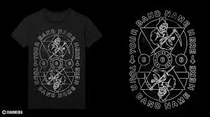 Band Tee Designs Metal Band Shirt Design Speed Art