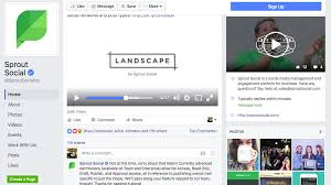 sprout facebook business page exle