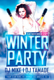 party flyer template info psd winter party flyer template awesomeflyer com