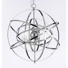 chic orb chandelier lighting foucaults orb chrome chandelier light fixture free