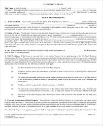 The commercial lease agreement template will then need to include information about the commercial property, its location as well as all features and facilities offered via this contract. Free 20 Simple Commercial Lease Agreement Templates In Pdf Ms Word Google Docs Pages