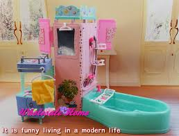 dolls bathroom bathtub set dollhouse furniture kids puzzle toy diy accessories decoration original box barbie barbie doll house furniture sets