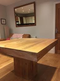large square mango wood dining table 120cm x 120cm solid wood table with single middle