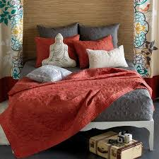 Coral Bedspread - Home Design - Mannahatta.us & Grey And Coral Bedding My New Apartment Pinterest Shops Home And Coral Adamdwight.com