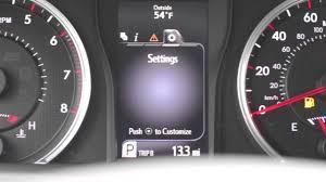 2017 Camry Warning Lights 2017 Camry Multi Information Display