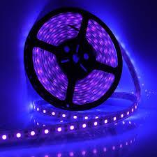 Black Light Led Strips For Cars Wholesale 5m 16ft Led Waterproof Ultraviolet Purple Black Light Strip 5050 Dc 12v Night Fishing Boat Uv Blacklight Flexible Lamp Led Strip Lights For