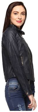 dark voxati leather jacket blue voxati women women s jacket s leather blue bonxoyhw