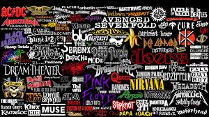 kinda rock bands logos collage by superbrogio