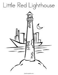Small Picture Little Red Lighthouse Coloring Page Twisty Noodle