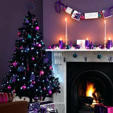 purple christmas tree ornaments purple wall paint and tree decorations in  purple and pink colors purple