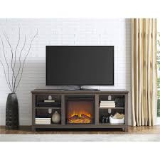 ameriwood home edgewood tv console with fireplace for tvs up to 60 espresso com