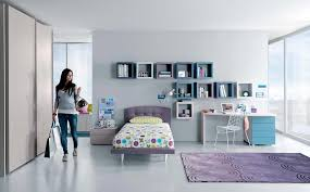 simple bedroom for girls. Cool Teenage Girl Bedroom Designs With Wall Shelves And Small Writing Desk Simple For Girls O