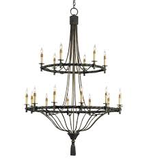 currey company 9174 priorwood 18 light chandelier with pyrite bronze finish undefined